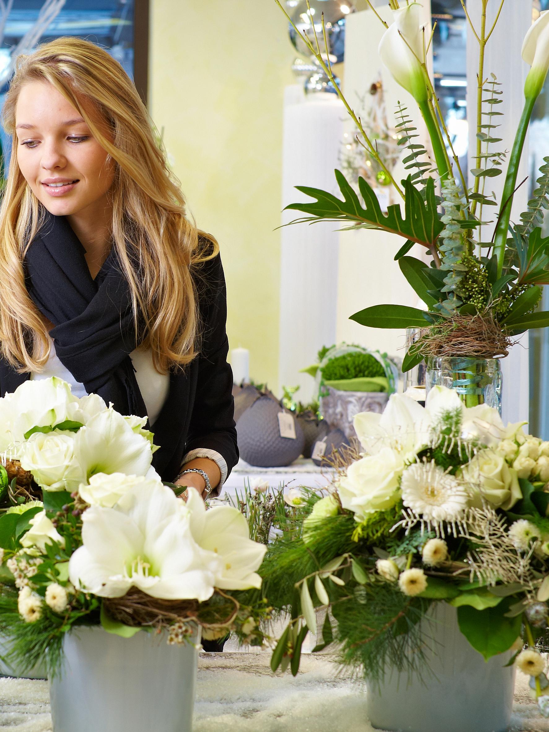 Blumenauswahl erhöht die Vorfreude aufs Hochzeitsfest