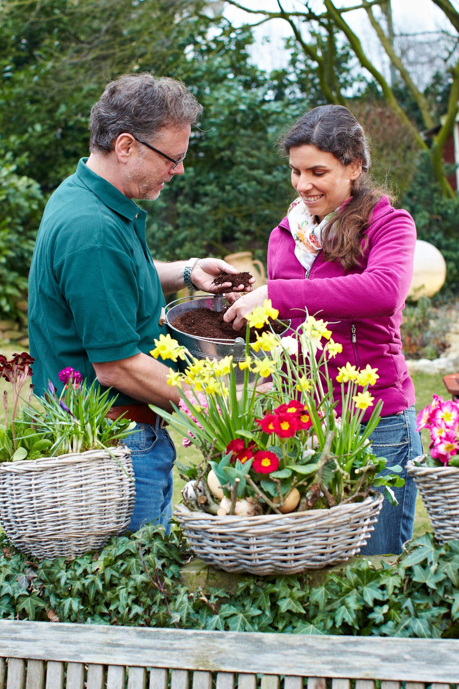 Substrate aus nachhaltiger Produktion: Kästen und Schalen dauerhaft bepflanzt