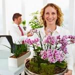 Blumen aus der Chefetage kommen an