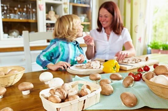 Vitamine - pure Gesundheit, die in Pilzen steckt