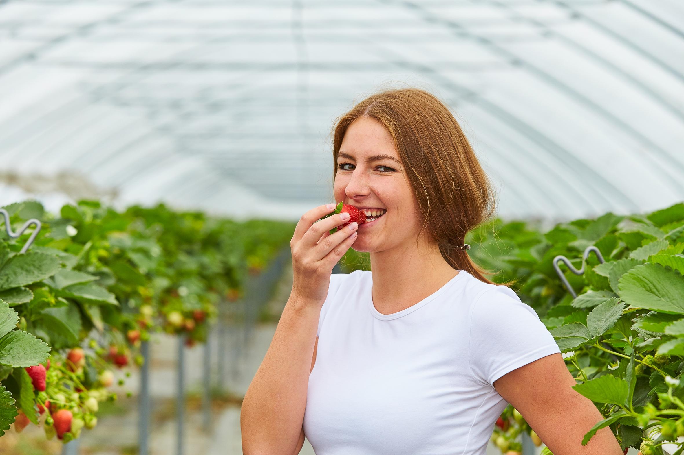 Sich schön essen mit Erdbeeren