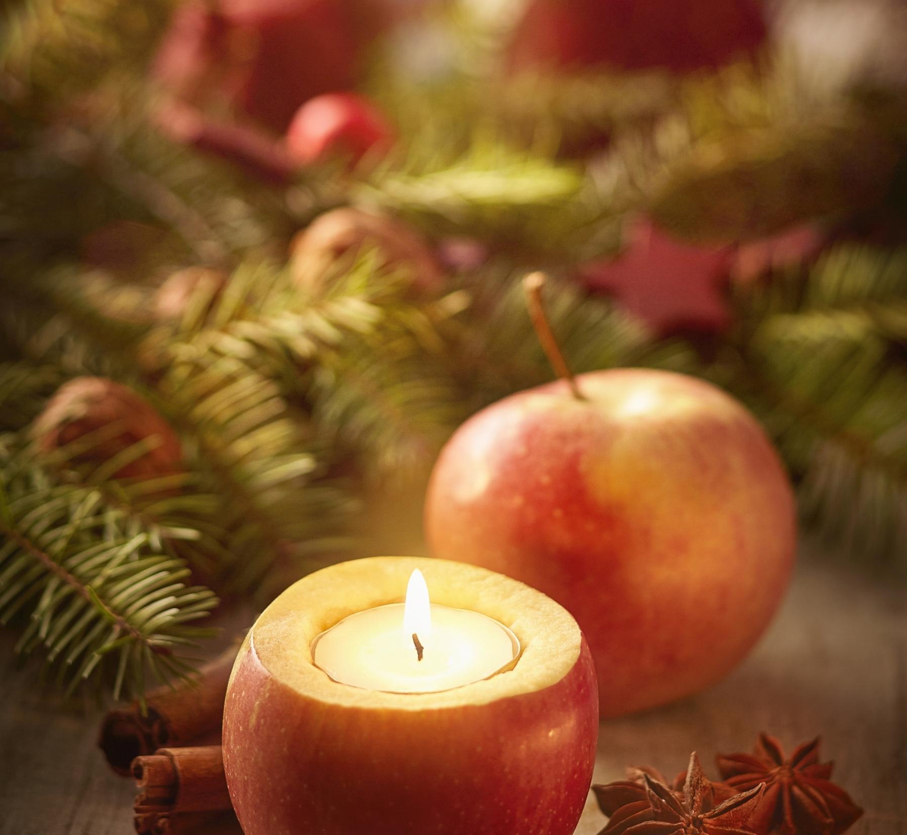 Obst aus Deutschland: Zum Anbeißen schöne Deko in der Vorweihnachtszeit